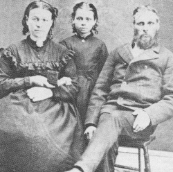 Wife Rachel Bunn (Harriott), daughter, and Thomas Bunn Sr.
