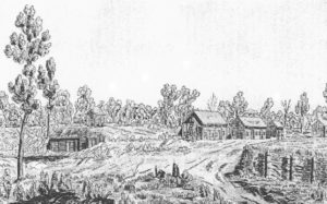 View of Red River Settlement, (1817) Archives of Manitoba