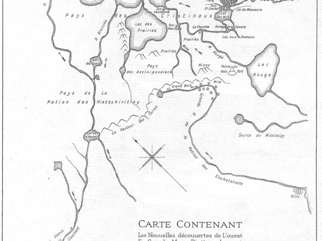 1737 La Verendrye Map