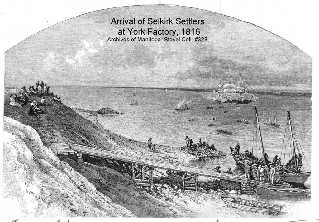 1816 Selkirk Settlers at York Factory