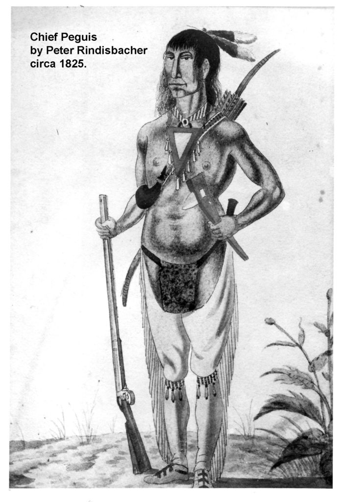 1820s Chief Peguis by P Rindisbacher