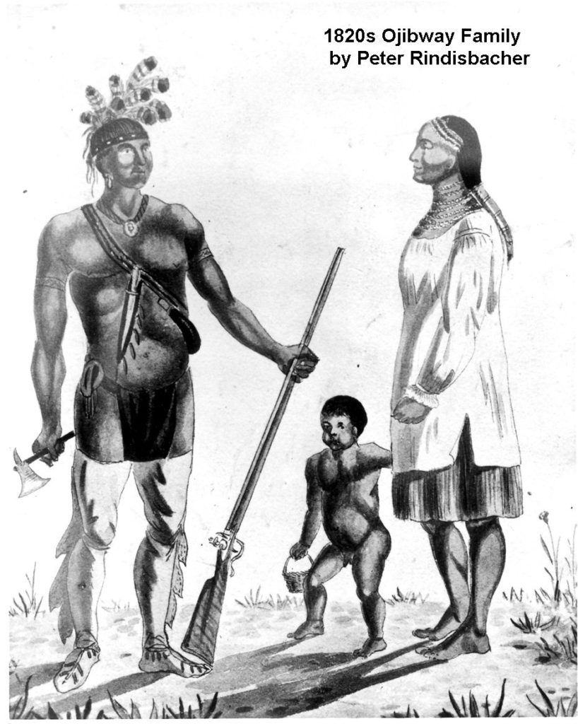 1820s Ojibway Family by Peter Rindisbacher