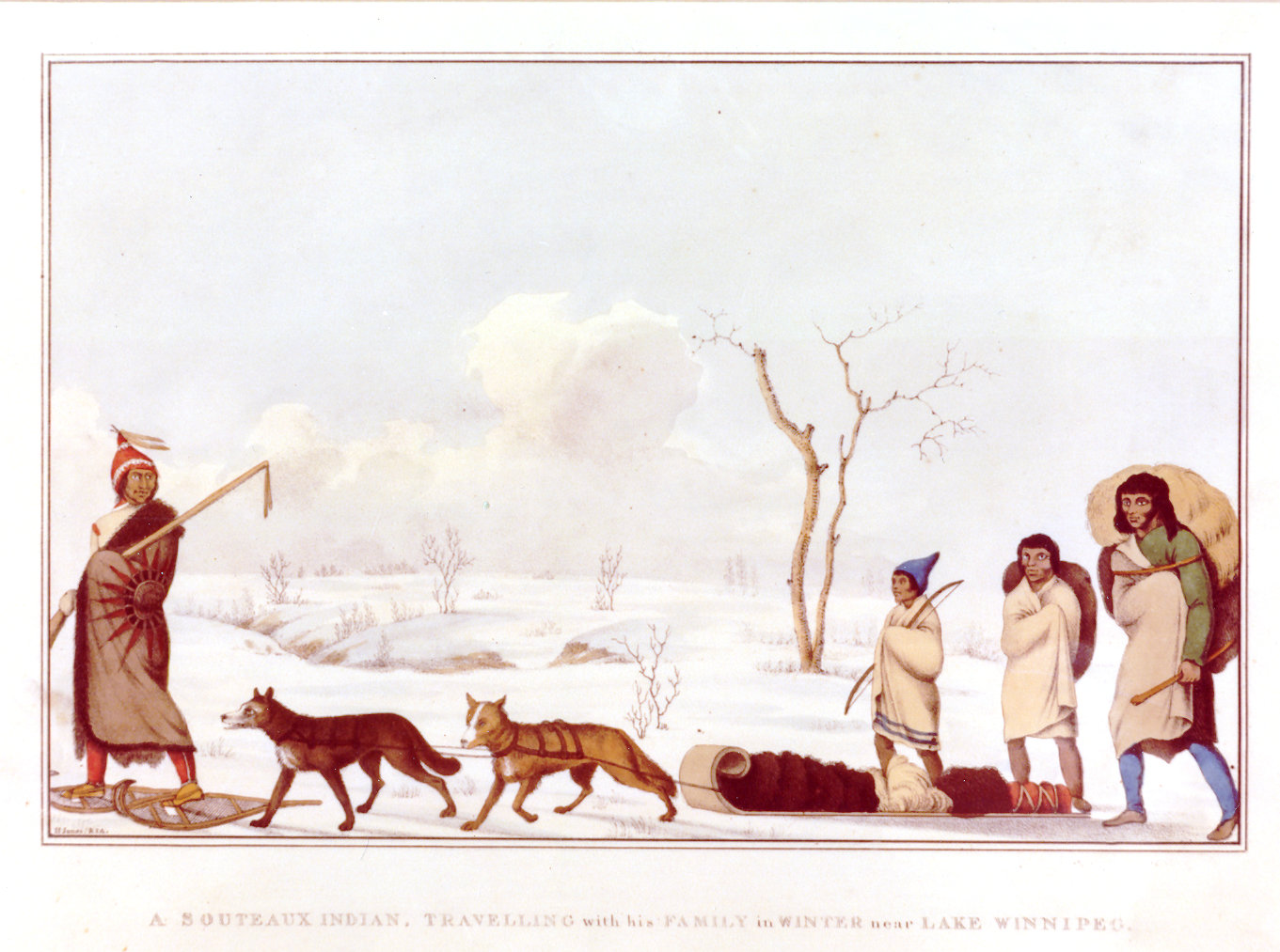 1823 Sauteux family travelling