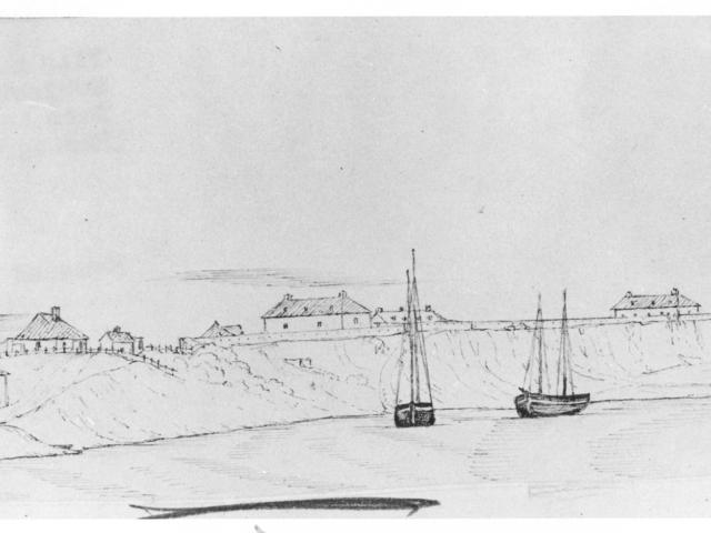 1847 Lower Fort Garry sketch