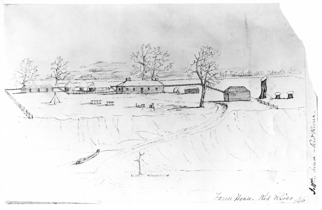 1847 Farmhouse on the Red River