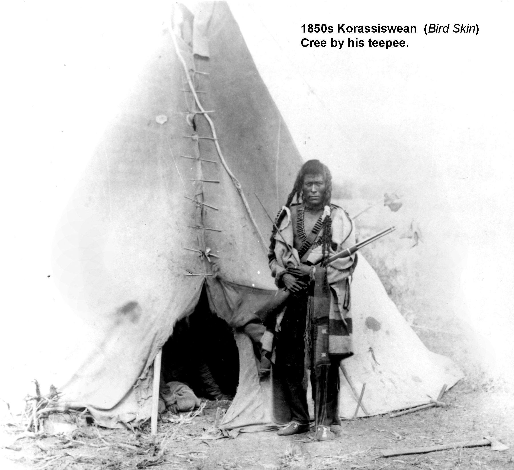 1850s Koriassiswean Bird Skin Plain Cree