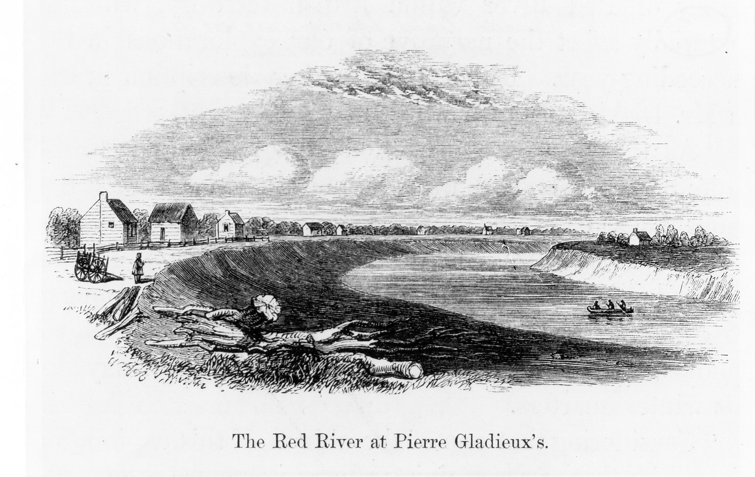 1858 Red River farms sketch