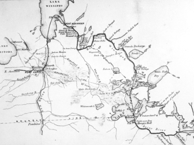 1870 Map of Route of Red River Expeditionary Force