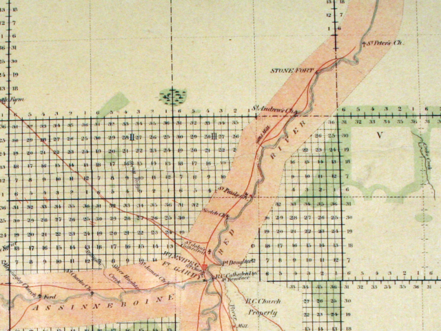 1870 Survey Map  of River Road