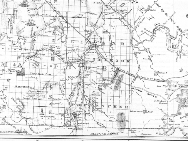 1876 Map of Province of Manitoba