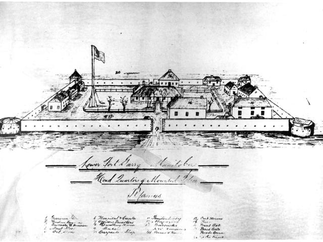 1876c Lower Fort Garry NWMP Headquarters