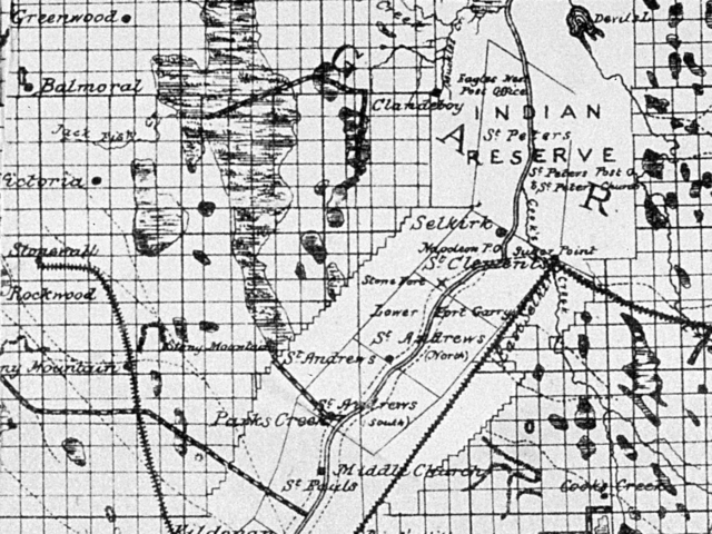 1882 Map of early drains