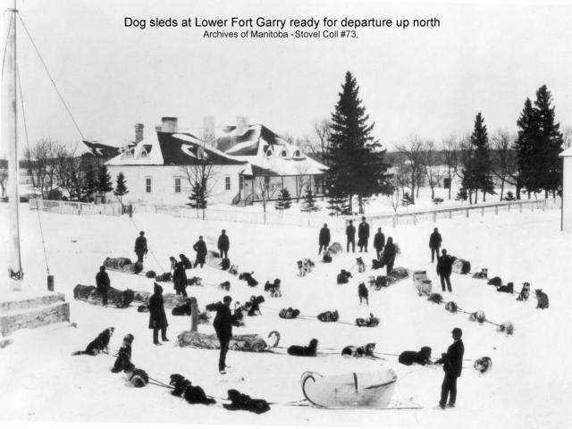 1900 Dog Sleds at Lower Ft Garry