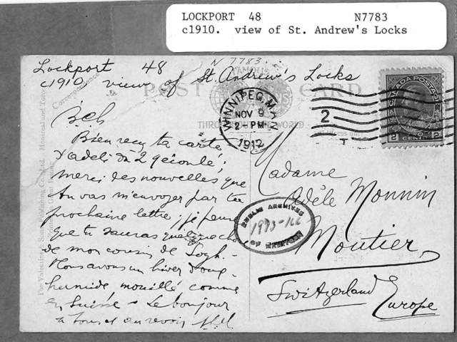 1910c Back of Locks Postcard