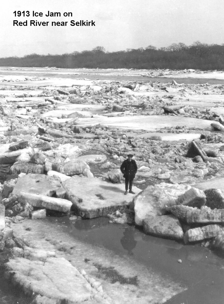 1913 Selkirk, Red River ice jam