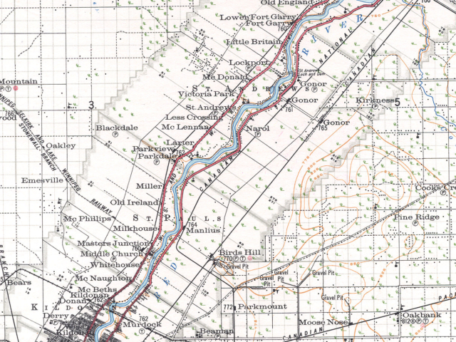 1921 Sectional Map