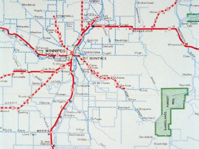 1940 Highways Map