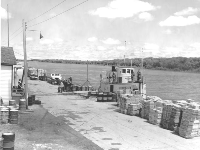 1957 Selkirk docks