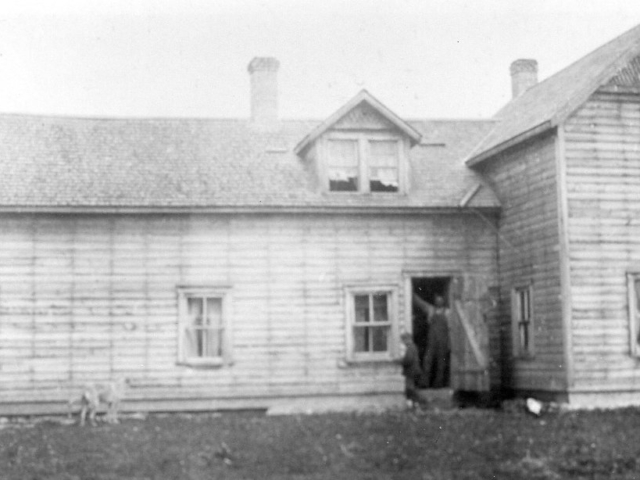 A.B. Rowley Residence. Corner of CIL road and Henderson.