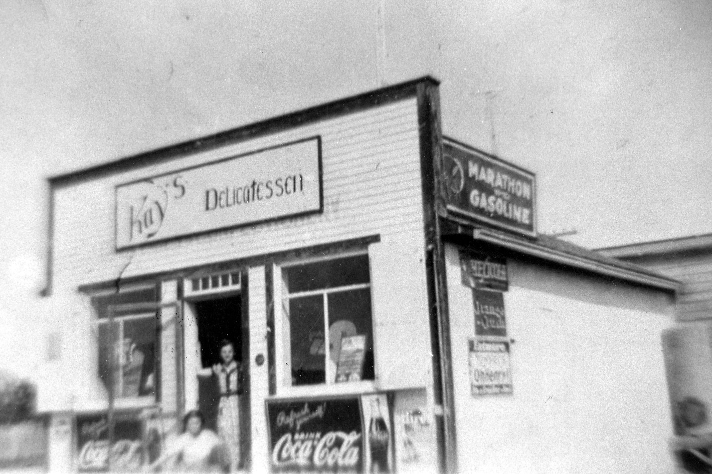 Kay's Delicatessen in East Selkirk -Mike & Kay Negrich (nee Karank). Now where St Mary's Catholic church now stands