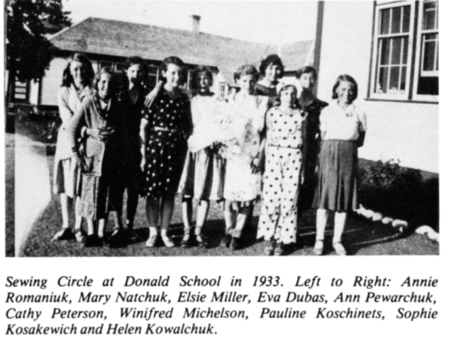 Donald sewing circle 1933