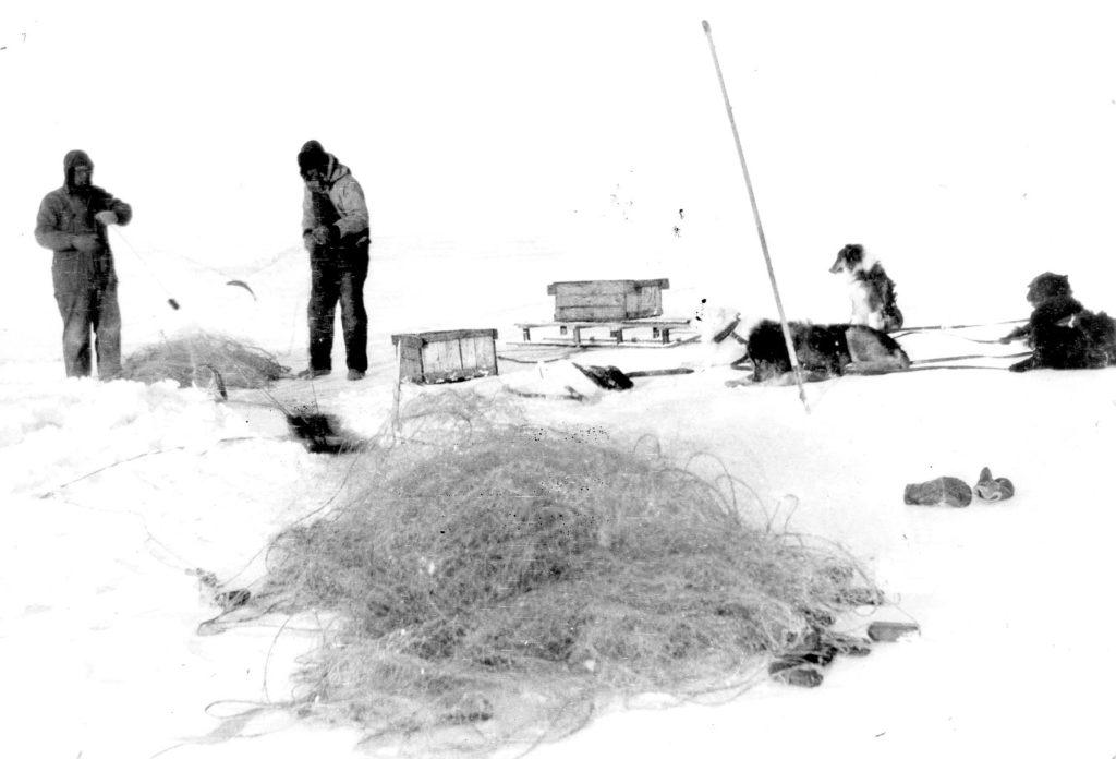Ice fishing on Lake Winnipeg - Andersons