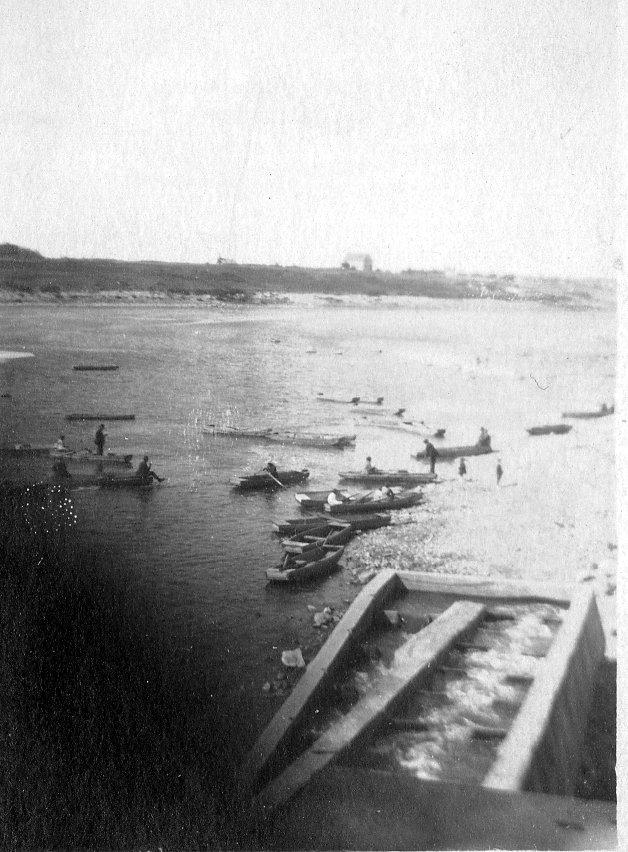Fishing boats below the Locks east side