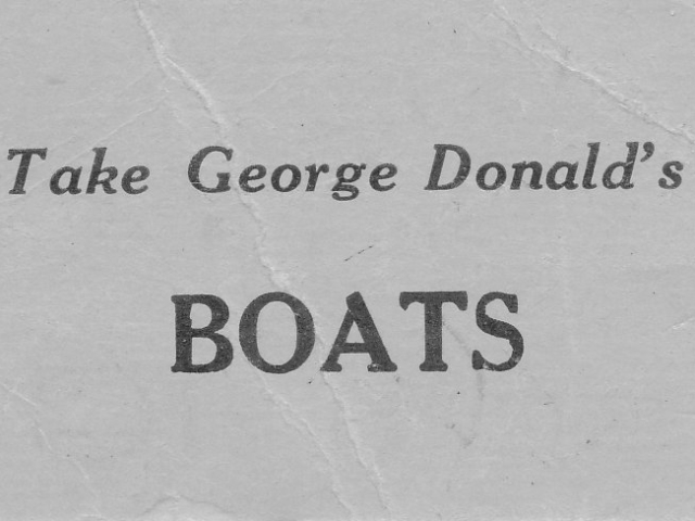 George Donald Business Card Back