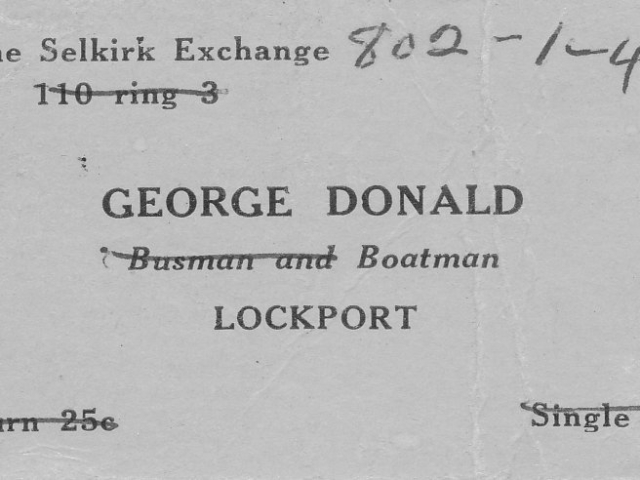 George Donald Business Card Front