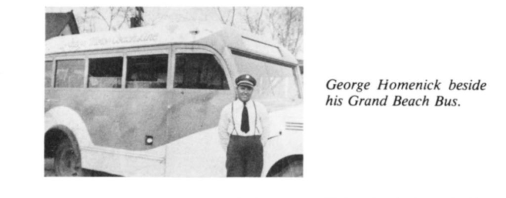 George Homenick Grand Beach Bus