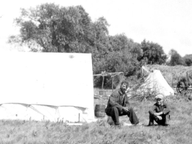 Hay camp on Benson's marsh Harrisons 1938