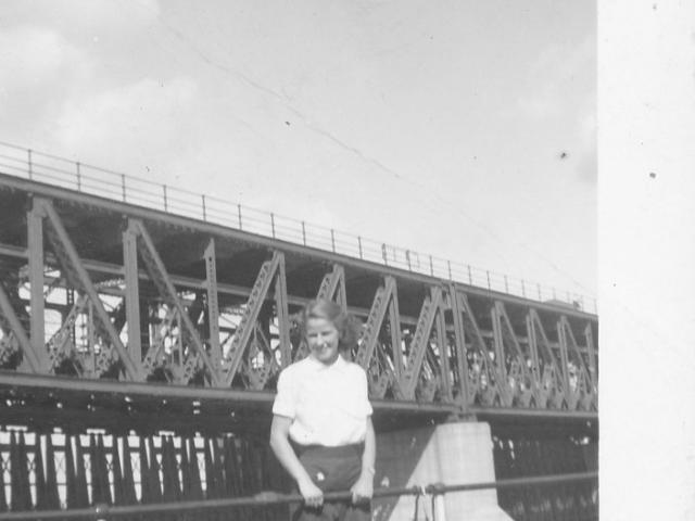 Woman at St. Andrews Lock 1938