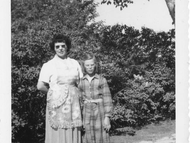 Mabel Davis and Marge Paradoski
