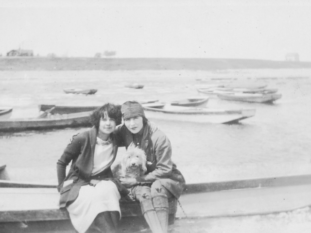 Two woman on George Donald's boats