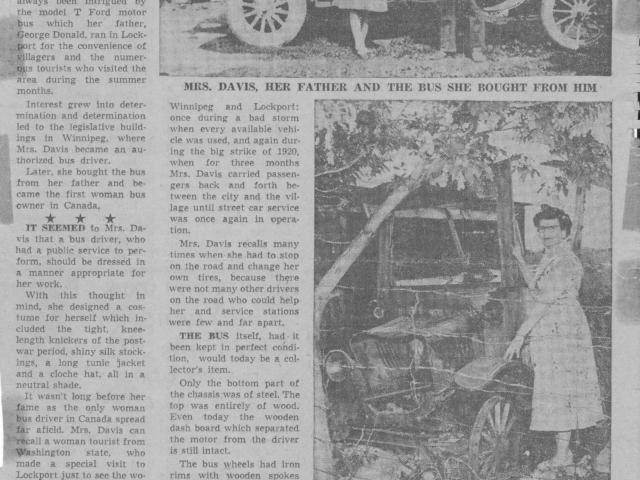 Newspaper article 2 - Mabel Davis