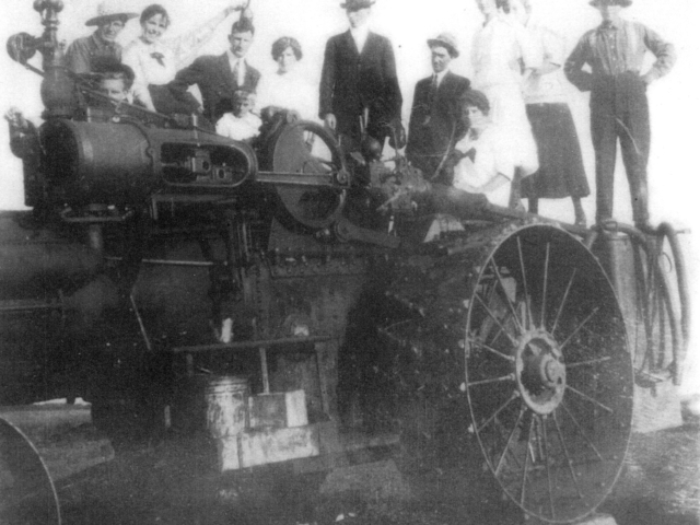 John (Jack) Martin - Early Steam tractor purchased for $1,400 at that time