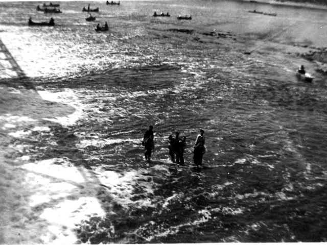 1920s Swimming and fishing below the dam