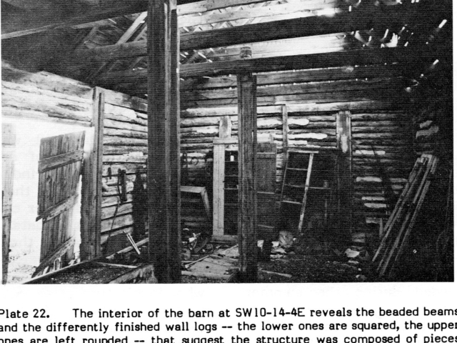 Log Barn Interior
