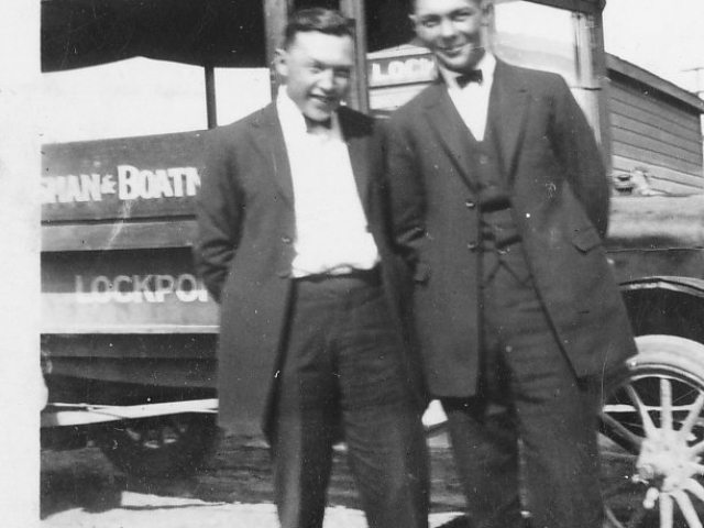 Louis and Jerry with Lockport Bus