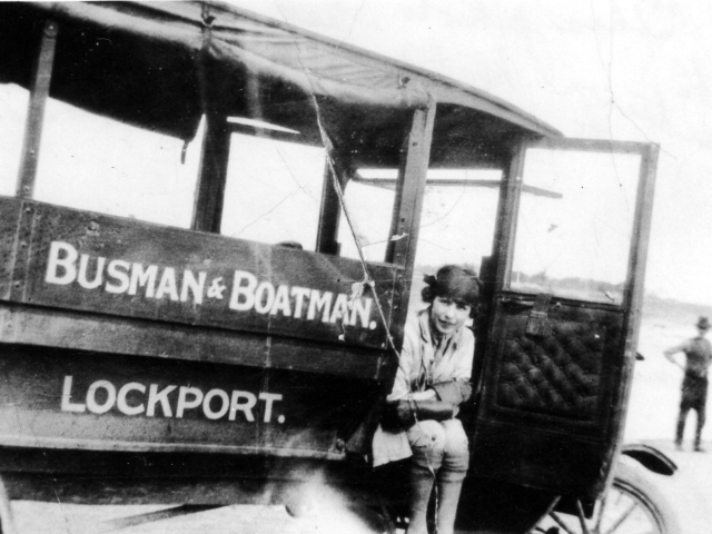 Mabel Donald Davis 1st Woman passenger bus driver