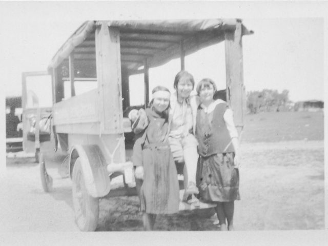Mabel Donald Passengers and Bus