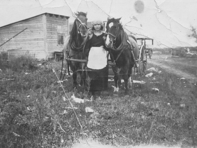 Mabel Donald and Team of Horses