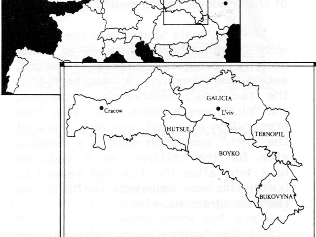 Maps of Ethnic Areas of the Western Ukraine
