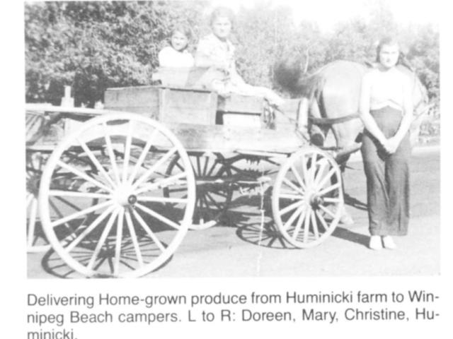Market Gardening - Hauling home produce to Wpg