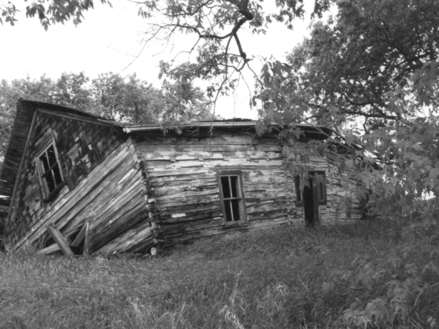 Remains of a Bukovynian house in the Libau district NE 28-15-6E