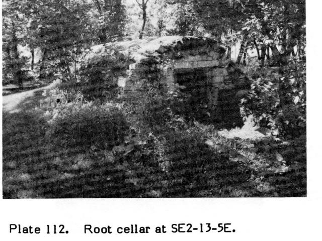 Root cellar at SE 2-13-5E