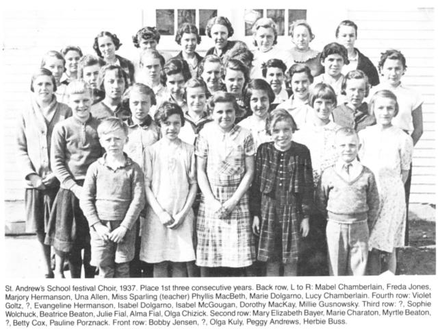 St Andrews School Choir 1937