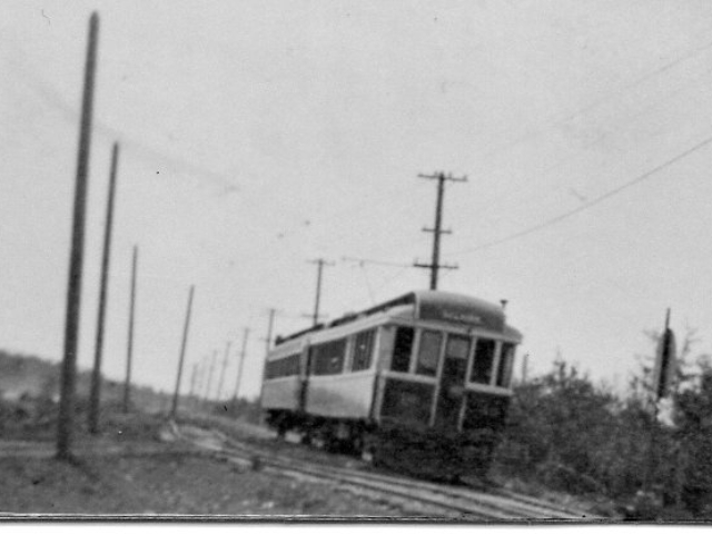 Street car at Lockport station