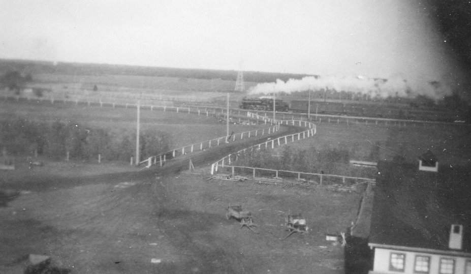 Train Passing Van Horne Farm, East Selkirk