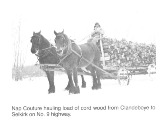 Wood - Hauling cord wood on #9 Hwy